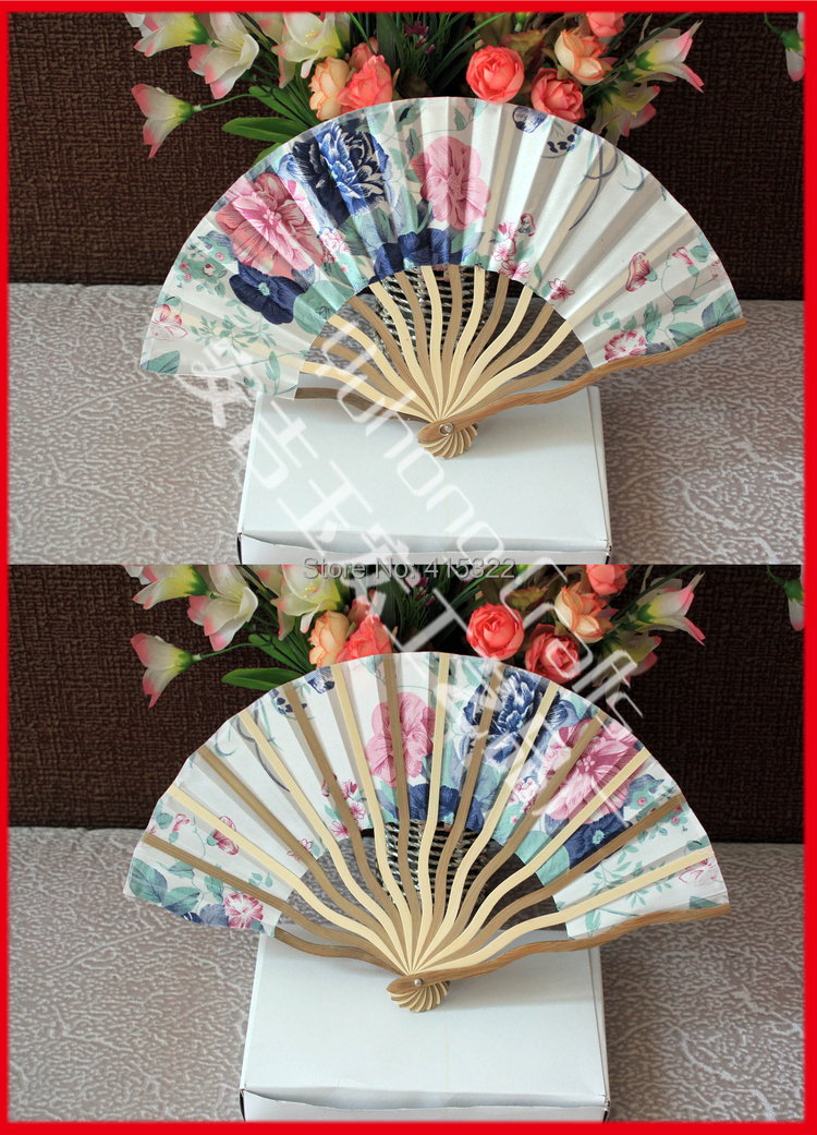 100pcs/lot free shipping high quality Japanese silk fan