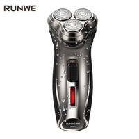2017 nueva llegada runwe Afeitadora eléctrica triple cuchilla rotatoria recargable hombres Maquinillas de afeitar rs981 hombres barbeador barba Maquinillas de afeitar