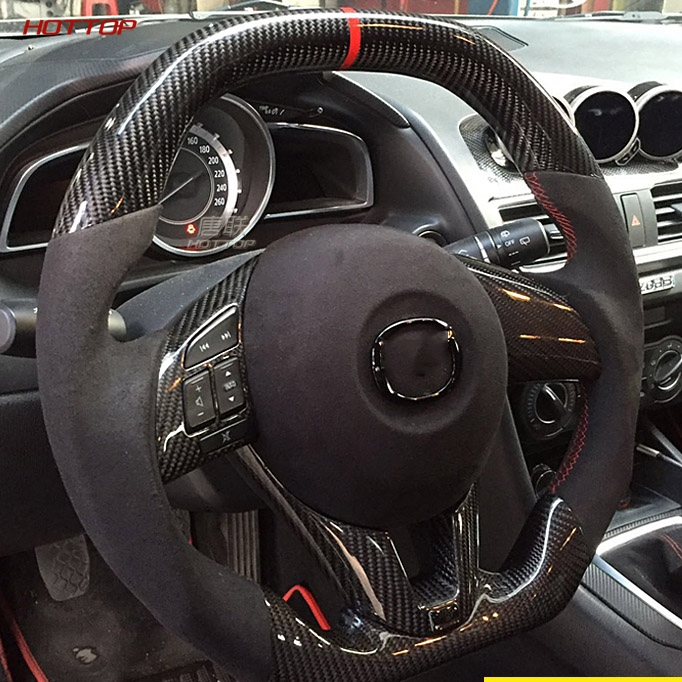 Car Carbon Fiber Steering Wheel for MAZDA3 axela CX 5|Steering Wheels & Horns| |  -