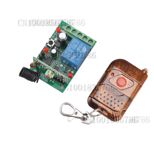 DC 24V 1CH Remote Control Switch 10A Relay Switching Wireless Controller NO COM NC Button ON OFF Remote Switches 315/433 ASK
