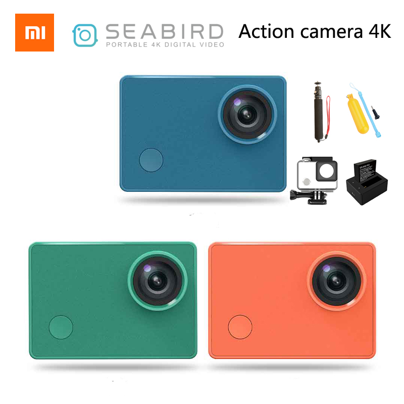 Xiaomi Mi Seabird 4K Action Camera 4k/30FPS Hisilicon Hi3559 WIFI Underwater Waterproof Cam Sport Video Camera(China)