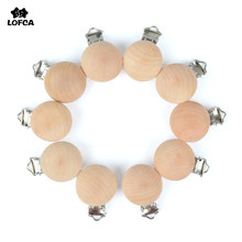 5pcs/lot Baby Wooden Clips Baby Pacifier Dummy Clip Holder Solid Color Natural Wood Baby Feeding Accessories Soother Clasp Metal(China)