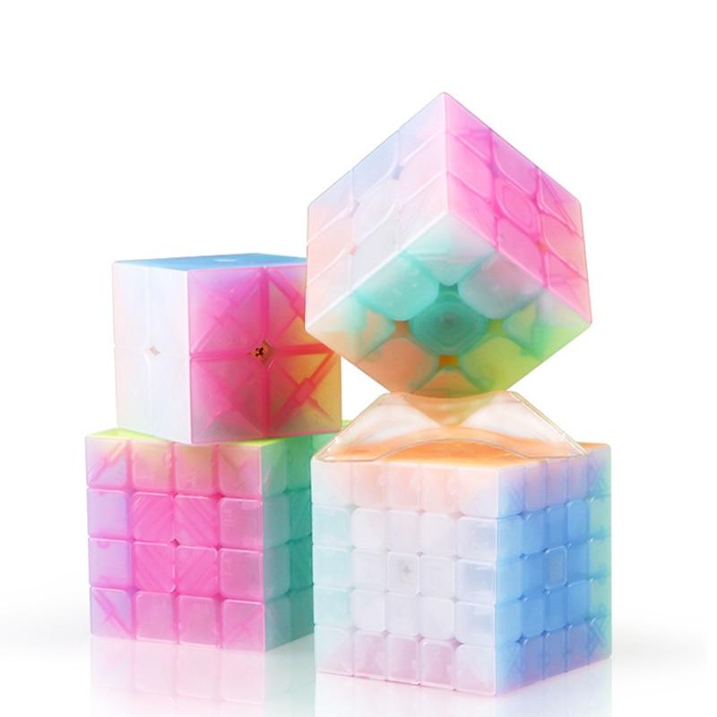Qiyi New 9 Series Rubik's Cube 3x3x3 4x4x4 Jelly Magic cube educational toys for 5 year olds rubik cube keychain trending toys велосипед cube stereo hybrid 140 sl 27 5 2014