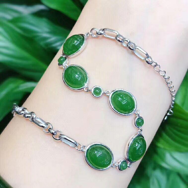 New 925 silver seiko bracelet with hetian yu egg/