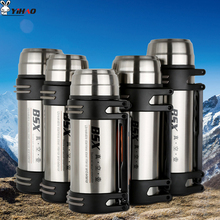Keelorn High Quality 1200ml 1600ml 1800ml 2000ml 304 stainless steel high vacuum travel pot strap flask Out Travel Cups