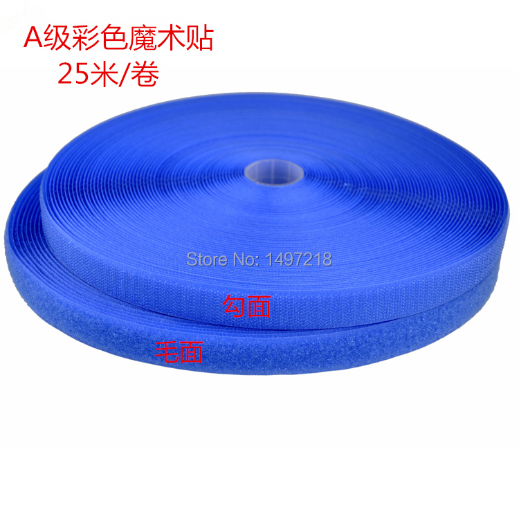 """Free Shipping Wholesale 1"""" 25mm width 25m Length a pair Nylon Sewing  cable ties tapes loop and hook straps
