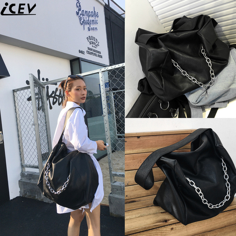 ICEV famous designer brand women leather handbags large capacity shopping bag high quality big black casual tote bag soft bolsas 2015 special offer bolsas designer handbags high quality korean manufacturers selling new are cross printed student bag cheap