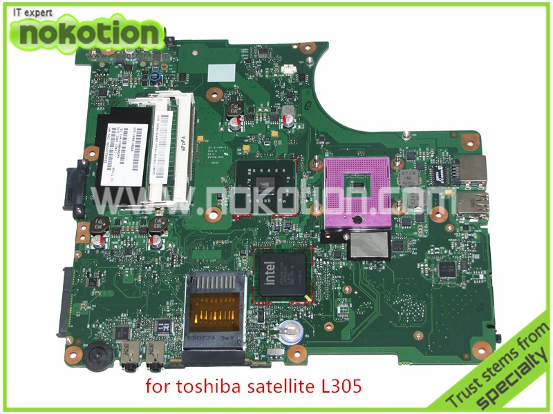 NOKOTION SPS V000138660 For toshiba satellite L300 L305 Motherboard  INTEL GL40 DDR2 6050A2264901-MB-A03 sps v000198120 for toshiba satellite a500 a505 motherboard intel gm45 ddr2 6050a2323101 mb a01