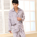 Men winter Coral cashmere Pajamas suit Long sleeves Large size Flannel Formal Home clothing Luxury noble V-neck