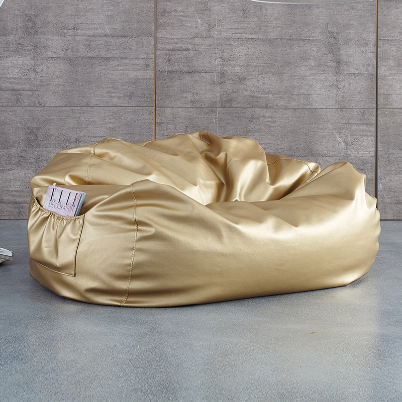 Modern bean bag sofa living room chair leisure furniture made in China gold side pocket by