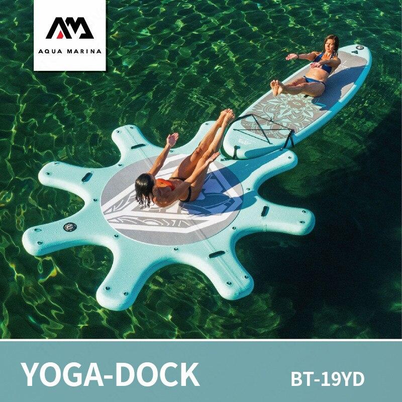 AQUA MARINA Yoga-Dock planche de Surf Sup planche de Paddle Stand Up planche de Paddle SUP planche de Surf gonflable Bodyboard 290 cm