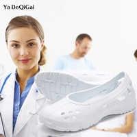 Doctor Nurse Surgical Shoes 2019 New Hollow Medical Shoes Women's Shoes Dental Hospital Lab Shoes Anti-static Autoclavable Clogs