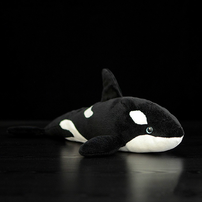 38cm simulation Orcinus orca plush toy Killer Whale stuffed fish dolls marine animal personalized gift christmas цена 2017