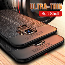 Luxe Ultra Dunne Zachte Siliconen Case Op De Voor Samsung Galaxy S7 Rand S8 S9 Plus A7 A3 A5 2017 2016 Shockproof Bumper Case(China)