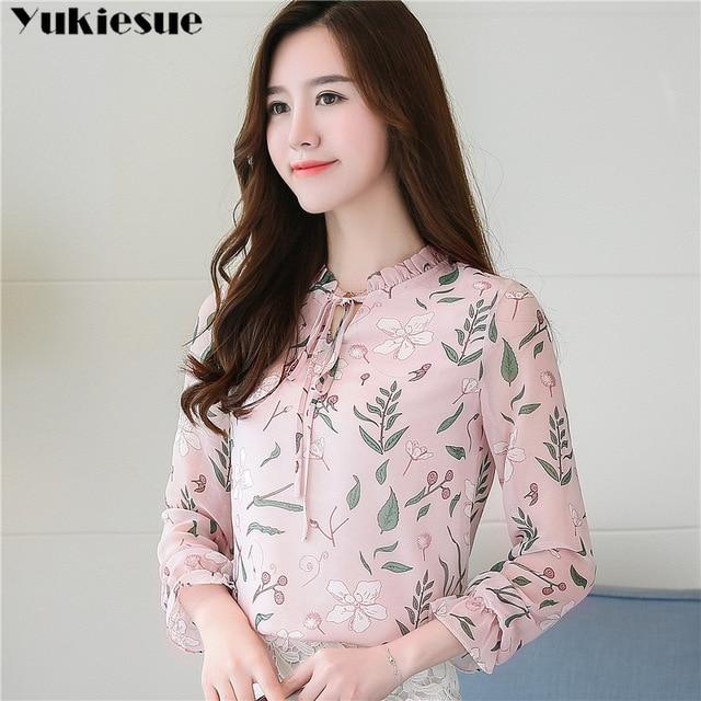women blouses shirts woman blusas tops 2019 summer office work long sleeve ruffles elegant shirt blouse womens Plus size white 4
