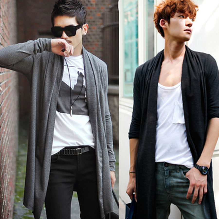 Spring Summer Men Korean knitting lightweight Sweaters Cardigan ...