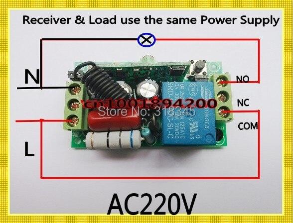 AC220V 1CH беспроводной переключатель RF приемник и передатчик 10A мгновенная застежка-тогл добавить контроллер свободно Светодиодная лампа SMD Мощность ВКЛ/ВЫКЛ