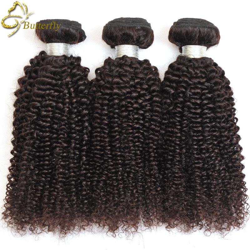Stema Hair Peruvian Kinky Curly Virgin Hair 3 Bundles Natural Black
