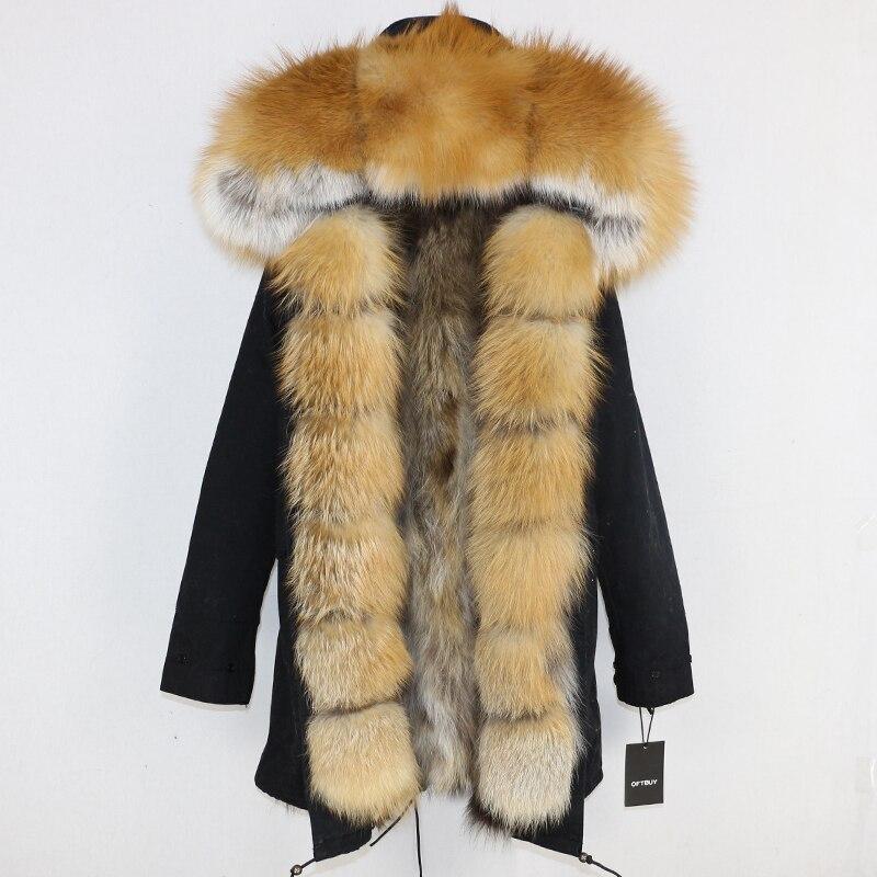 OFTBUY 2019 Winter Jacket Women Long Parka Real Fox Fur Coat Natural Raccoon Fur Collar Hood Thick Warm Streetwear Parkas New 83