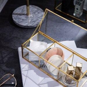 Image 5 - คลาสสิกยุโรปแก้วแต่งหน้าสีทองปกคลุมขอบห้องน้ำแต่งหน้า make up ผลิตภัณฑ์เครื่องสำอางค์