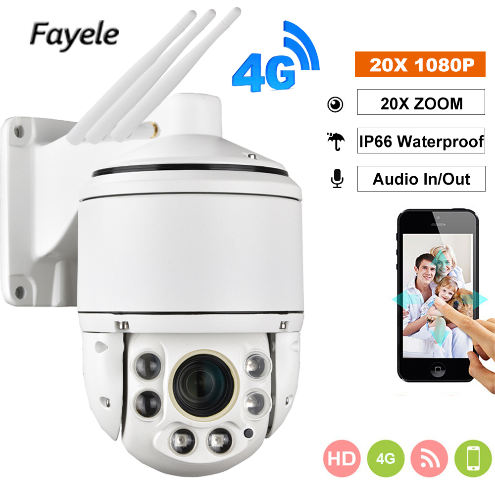 1080P 3G 4G Security Camera Wireless 2MP SIM Card Wifi Outdoor PTZ HD IP Camera IR