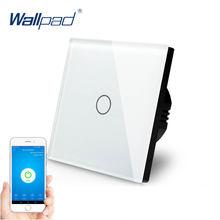 Сенсорный выключатель с wi fi 1 банда сторонний настенный стеклянная