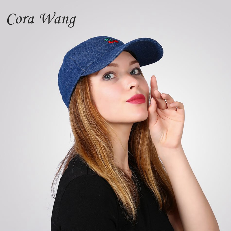 Cora Wang Dad Hats for women's Baseball Cap Soft cotton men Snapback Caps Unisex Cherry Embroidered fruits sun hat women satellite 1985 cap 6 panel dad hat youth baseball caps for men women snapback hats