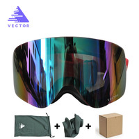 VECTOR Brand Ski Goggles Women Men Double Lens UV400 Anti Fog Adult Skiing Snowboard Goggles Skiing