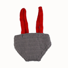 Handmade Knot Beanie+Tie+Shorts Set Toddler Baby Crochet Photography Props  0-12M Newborn Baby Crochet Photo Props 1pc MZS-15039