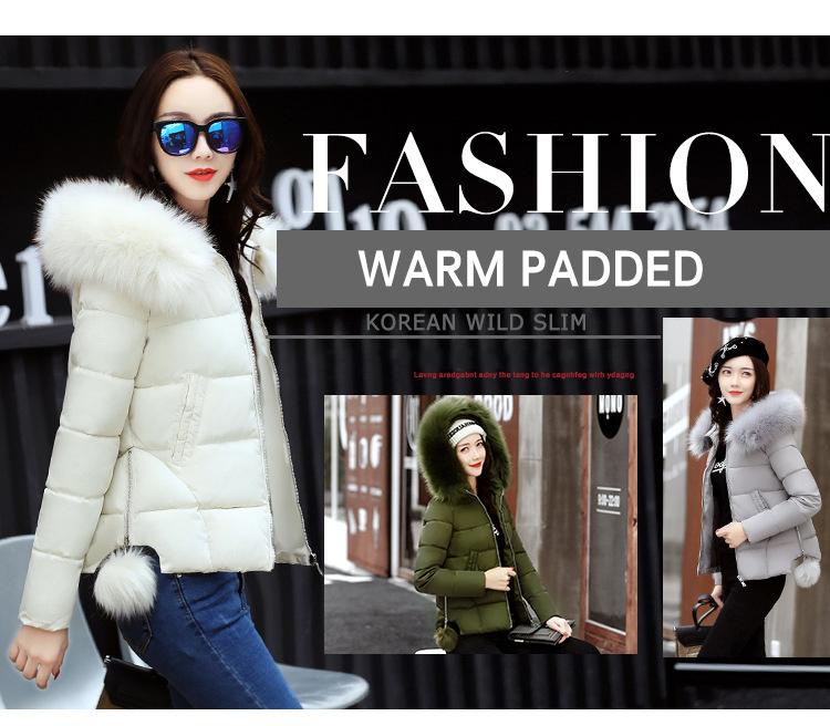 Short Women Basic Jackets Streetwear Warm Casual Coats Female Parka Cotton Hooded Winter Women Jacket Coat Outwear 19 DR114 3