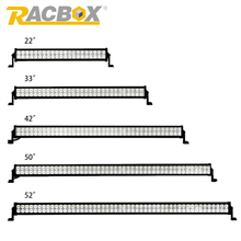 RACBOX Off Road LED Light Bar 22″ 32″ 42″ 50″ 52″ inch 120W 180W 240W 288W 300W 6000K Spot Flood Combo Beam For Jeep SUV Boat