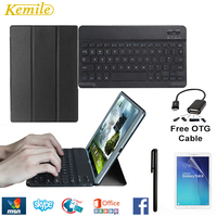 Slim Magnetic Flip PU Case Cover for Samsung GALAXY TAB A 10.1 P580 P585 Skin Case with S Pen Model Wireless Bluetooth Keyboard
