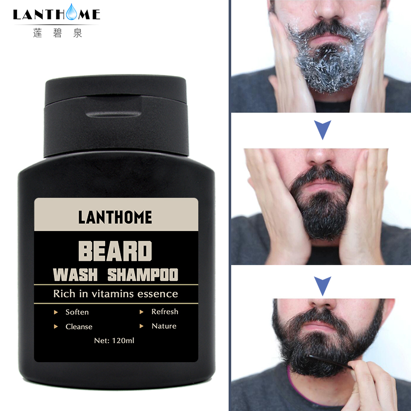 1PC Lanthome Vitamin Hair Beard Care Men's Gift Beard Cleaning Assistance Machine Moisturiser Deep Cleansing Beard Wash Shampoo 1