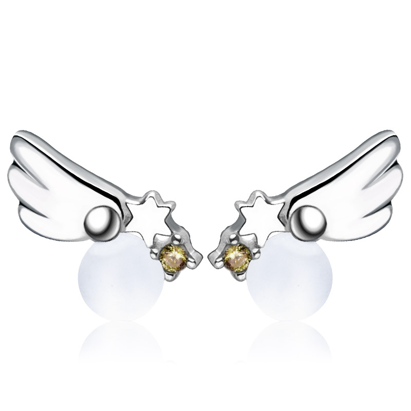 Us 19 95 1 Pair Card Captor Sakura Earrings 925 Sterling Silver Angel Wing Earring Free Ship In Stud From Jewelry Accessories On
