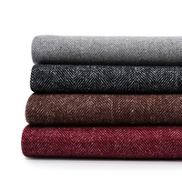 fine wool fabric herringbone style thick wool blend fabric wool suit fabric Winter for coat and cloak TJ0116 90cm*150cm/piece