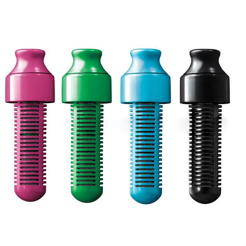 Bobble Bottle Wasserflasche mit Aktivkohlefilter verschiedene Grössen und Farben