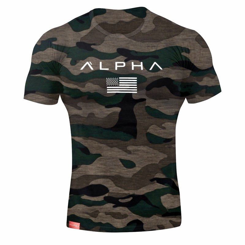 New Clothes Trend T Shirt Males Cotton Breathable Mens Quick Sleeve Health T-Shirt Crossfit Gyms Tee Tight Informal Summer season High