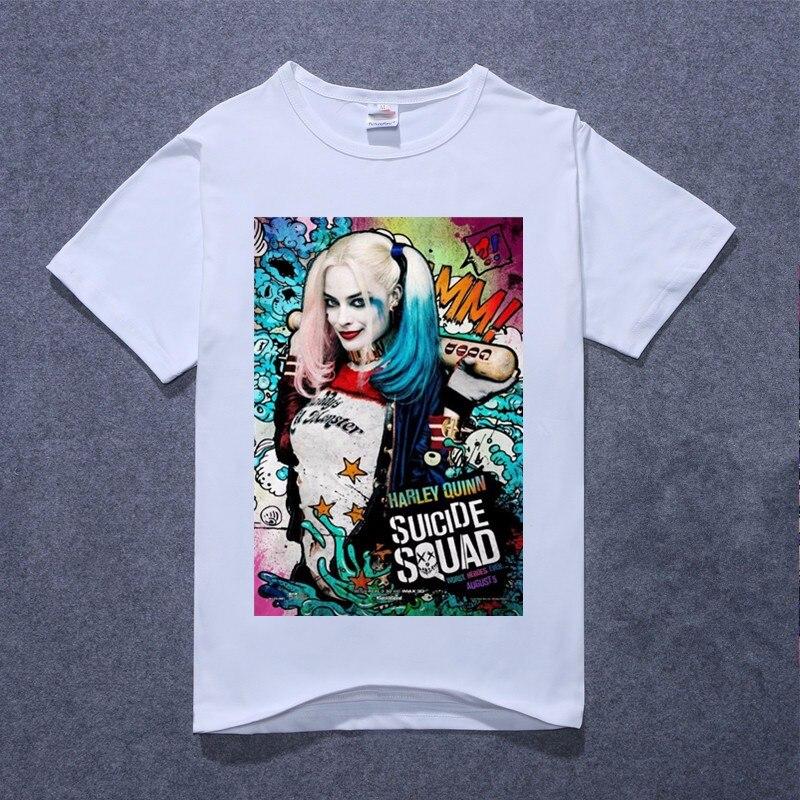 New Suicide Squad Harley Quinn Jared Leto Batman T Shirt Men Cotton T Shirt Tops Tees