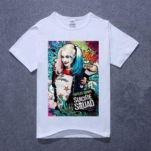 53eb2311 New Suicide Squad Harley Quinn Jared Leto Batman T Shirt Men Cotton T Shirt  Tops Tees