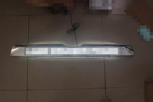 Image 3 - Car Chrome LED Trunk Lid Cover Braking Light Driving Light For Toyota Prado 150 Land Cruiser Prado FJ150  2018 Accessories