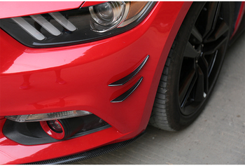 Fit for Ford Mustang carbon fiber spoiler surrounded by large decorative exterior wind knife 15-17