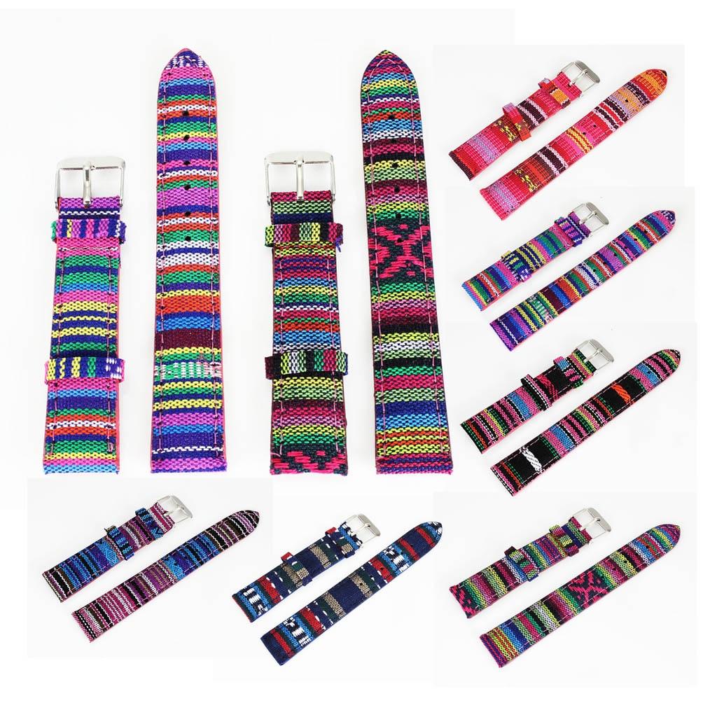 18 χιλιοστά Μήκος 7 Είδη Χρώμα Denim Υφάσματα καμβά πανί Ανδρών Γυναίκες καρπό ρολόι Band Ρολόγια Strap