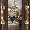 250mm moda modern unfold instale grande portão porta lida com brilhante prata ouro Ktv Hotel de puxadores das portas de madeira porta de madeira Casa puxa