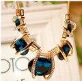 Moda Moda de Verano Hermoso Cristal Elegante Noble Encanto OL Populares Collar Collier Declaración Gargantilla Collar de La Joyería
