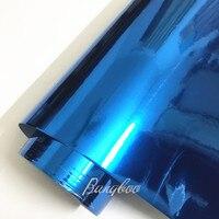 Atacado Alta Stretchable Chrome Wrapping Vinil Envoltório Carro Vinil Cromo Espelho Luz Azul