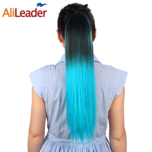 AliLeader Ombre Drawstring Ponytail Hairpieces With Clips 100G 20Inch 11 Colors Avaliable