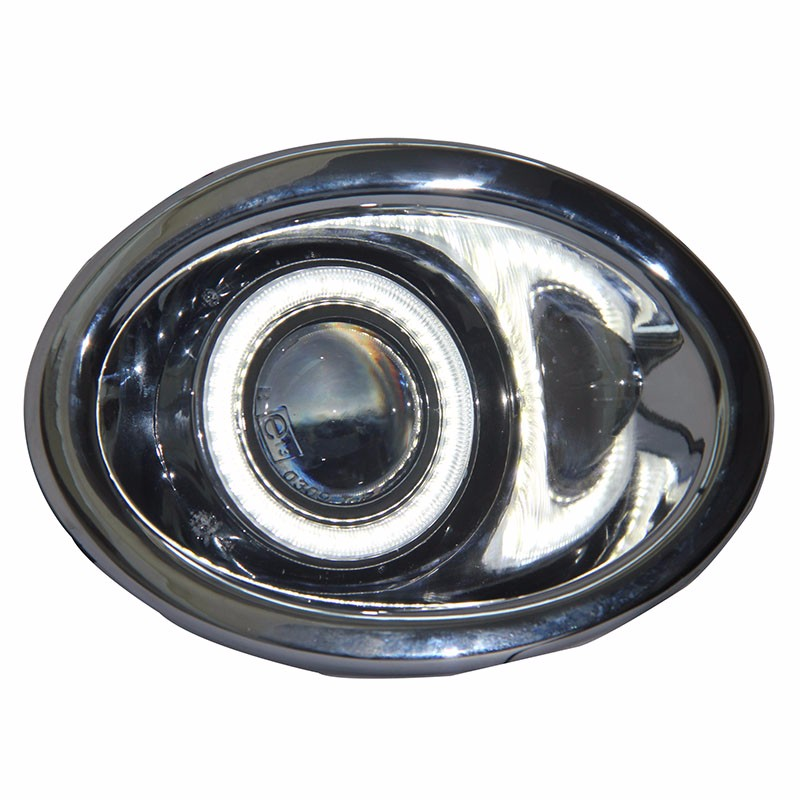 eOsuns Innovative COB angel eye led daytime running light DRL + halo Fog lamp Projector Lens for Nissan NV200