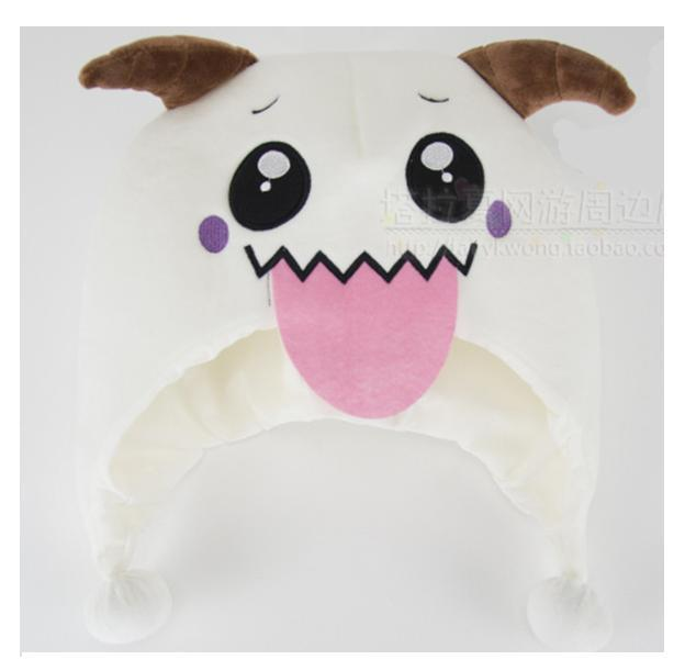White Poro plush hat with big tongue Poro hat *Good quality & CUTE* COLLECTION 1pcs IN Stock Same Day Shipping npow 41 in stock good price good quality in stock 3 months warranty