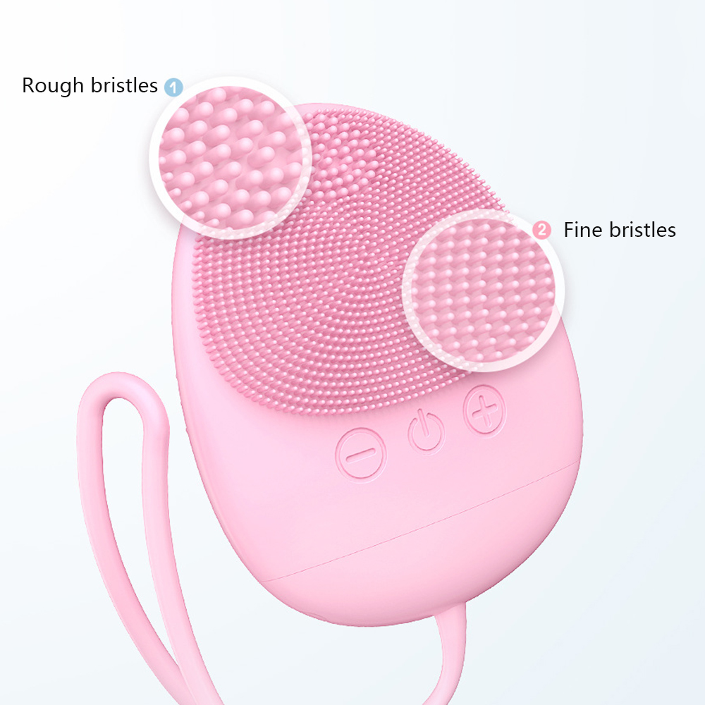 Cleansing Instrument Ultrasonic Silicone Electric Washing Pore Cleaner Multi-function Washing  Face Artifact