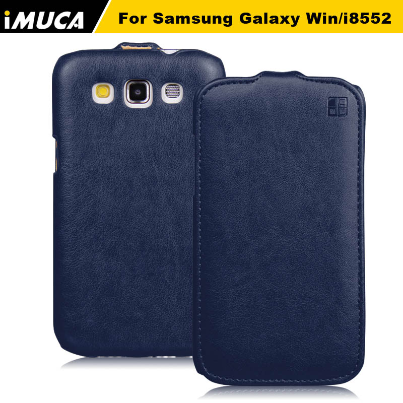 Hot Case for Samsung Galaxy Win i8550 i8552 galaxy grand Quattro Gt 8552 PU Leather Vertical Flip Cover Pouch Celular Capa ...